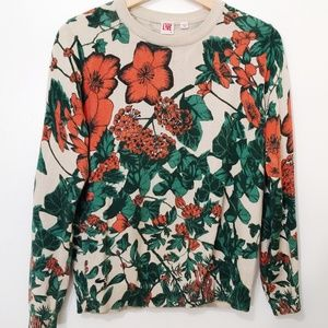 Lacoste Live Womens Floral Sweater Size Small